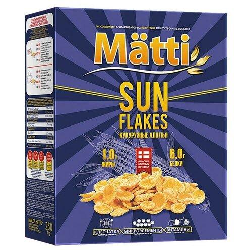 Фото - Готовый завтрак Matti Хлопья кукурузные Sun flakes, коробка, 250 г готовый завтрак tsakiris family лепестки шоколадные коробка 250 г