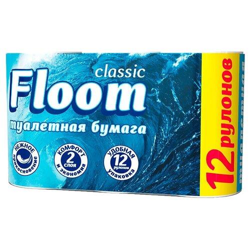 Купить Туалетная бумага Floom Classic двухслойная белая 12 рул.