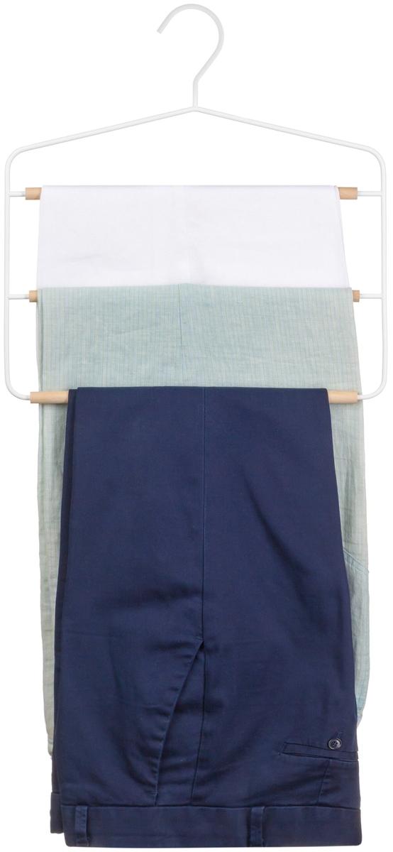 Стоит ли покупать Вешалка для брюк 34,9х1,2х35,3 см EL Casa Белая с 3 деревянными перекладинами? Отзывы на Яндекс.Маркете