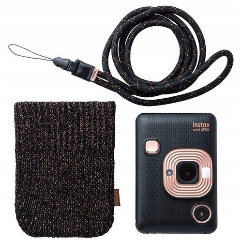 Фотоаппарат моментальной печати Fujifilm Instax Mini LiPlay Bundle Hard, elegant black фотоаппарат fujifilm instax square sq6 ruby red