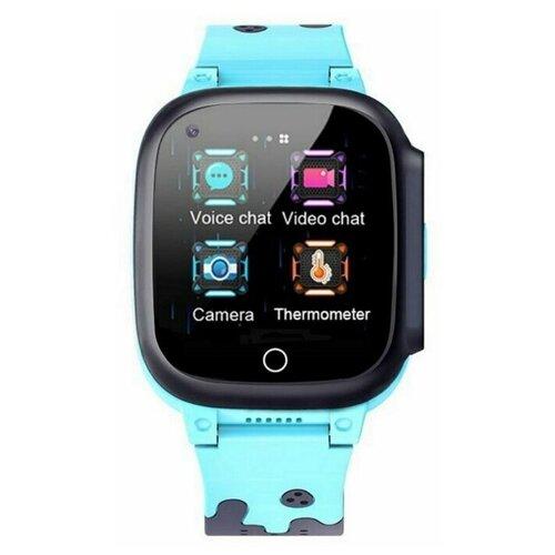 Детские умные часы Smart Baby Watch T8W, черный/голубой умные часы smart baby watch s4 голубой