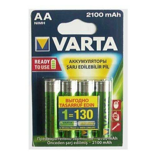 Фото - Аккумуляторы типа AA VARTA Longlife (комплект 4 штуки) 2100mAh аккумуляторы типа aa varta longlife комплект 4 штуки 2100mah