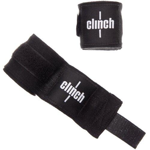 Кистевые бинты Clinch Boxing Crepe Bandage Punch 350 см черный
