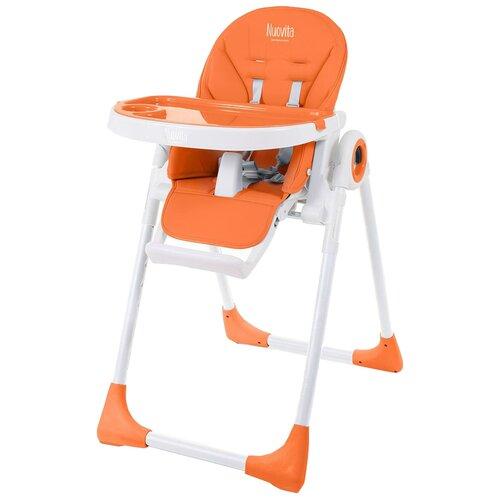 Купить Стульчик для кормления Nuovita Lembo, оранжевый/белый, Стульчики для кормления