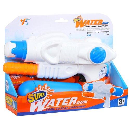 Купить Водное оружие для детей, водяной бластер, водяной пистолет, для игры с водой, для летних игр на улице, детская игрушка, для мальчиков, для девочек, пластиковый, бело-синий, в/п 30*23 см, Компания Друзей, Игрушечное оружие и бластеры