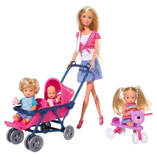 Фото - Набор кукол Steffi Love Штеффи с детьми, 29 см, 5736350029 набор кукол steffi love штеффи с новорожденным 29 см 5730861