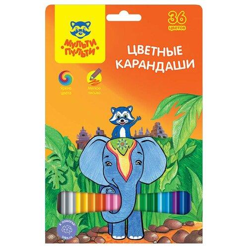 Мульти-Пульти Карандаши цветные Енот в Индии 36 цветов (CP_10823) мульти пульти карандаши цветные енот в испании 24 цвета cp 10758