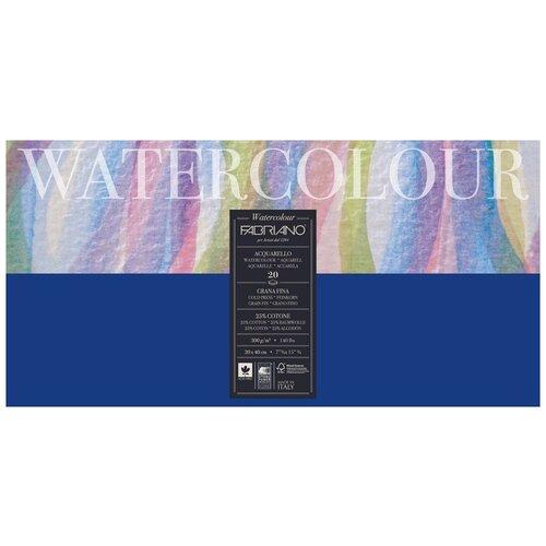 Фото - Блокнот-склейка для акварели Fabriano Watercolour 20х40 см 20 л 300г/м.кв 73612040 альбом для акварели fabriano watercolour 300 г м2 а6 10 5 х 14 8 см склейка с одной стороны 20 л