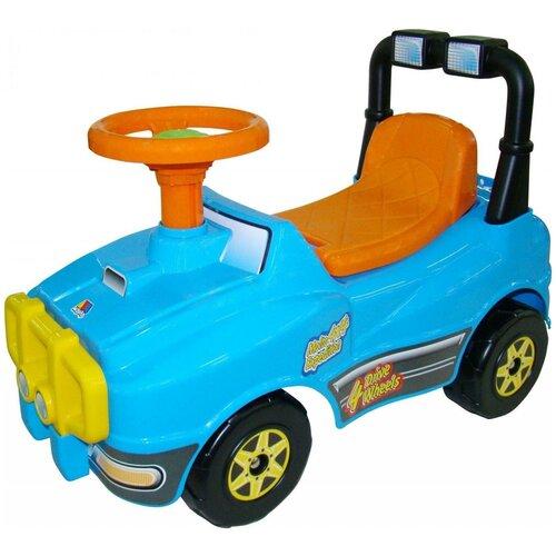 Каталка-толокар Molto Джип №3 (71842) голубой каталка толокар molto джип с ручкой 2 6294 62932 62949 62956 сиреневый