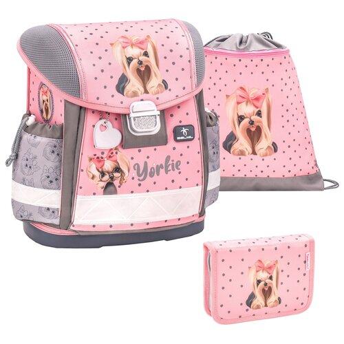 Купить Ранец Belmil Classy - Yorki, Собачка, розовый, с наполнением, Рюкзаки, ранцы