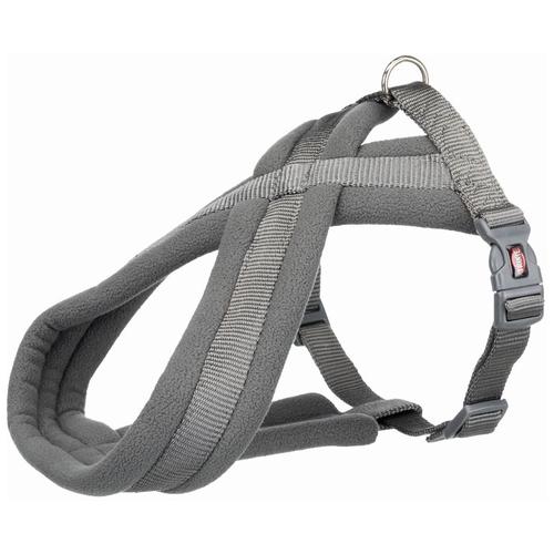 Фото - Шлейка Premium Touring, S–M: 40–70 см/20 мм, графитовый шлейка для собак trixie premium touring размер s m 40–60 см 20 мм бежевый