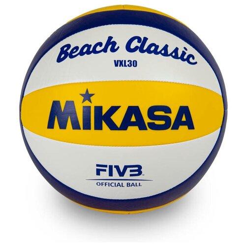 Волейбольный мяч Mikasa VXL30 желтый/синий/белый волейбольный мяч mikasa sv335 v8 желтый синий