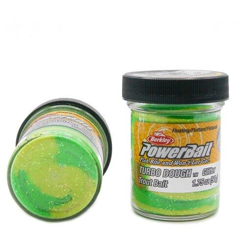 Форелевая паста Berkley - STBTDG-SGY (1078244) Turbo Dough цвет зелёный/жёлтый