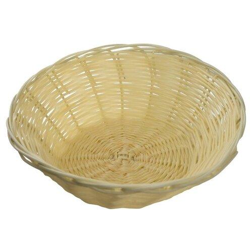 Корзинка для хлеба Gastrorag плетеная, круглая, 22см, бежевый
