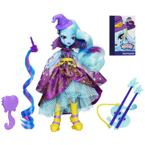Кукла My Little Pony Equestria Girls Радужный рок Супер-модница Трикси Луламун, 23 см, A6684