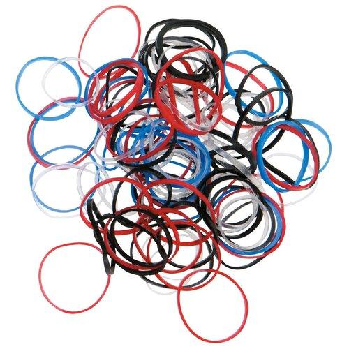 Купить Резинка DEWAL mini RES031 100 шт. красный/синий/черный