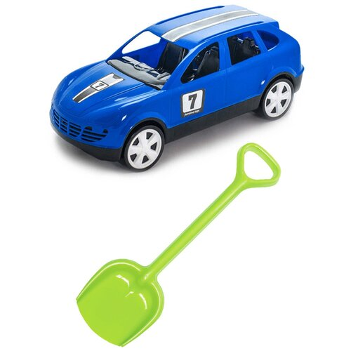 Купить Детский игровой набор для песочницы: Детский автомобиль Кроссовер + Лопатка 50 см. салатовая, КАРОЛИНА ТОЙЗ, Karolina toys, Наборы в песочницу