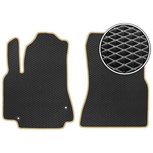 Комплект передних автомобильных ковриков ЕВА Infiniti JX35/QX60 2012 - наст. время (бежевый кант) ViceCar