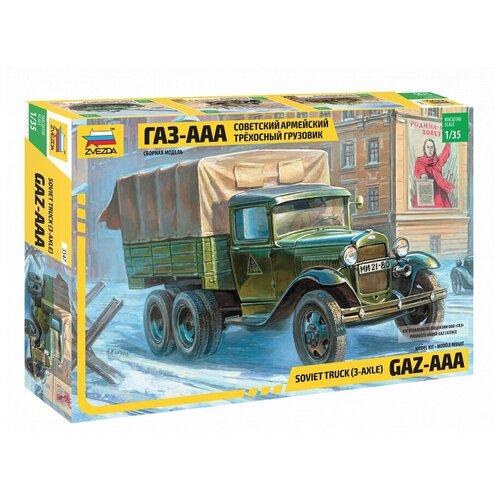 Сборная модель ZVEZDA Советский армейский трехосный грузовик (ГАЗ-ААА) (3547) 1:35 сборная модель zvezda советский грузовик 4 5 тонны зис 151 3541 1 35