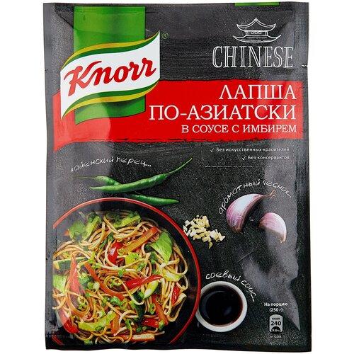 Knorr Приправа Лапша по-азиатски в соусе с имбирем, 30 г