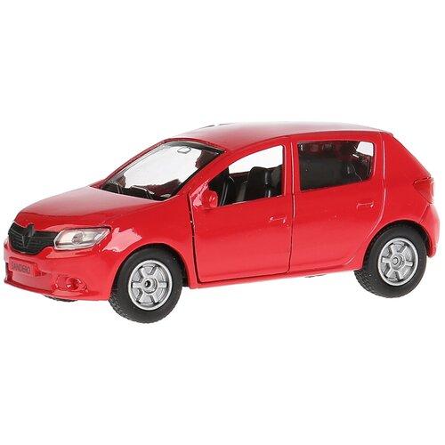 Легковой автомобиль ТЕХНОПАРК Renault Sandero 1:33, 12 см, красный легковой автомобиль технопарк renault kaptur 1 36 12 см оранжевый