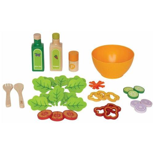 Набор продуктов с посудой Hape Garden Salad E3116 разноцветный
