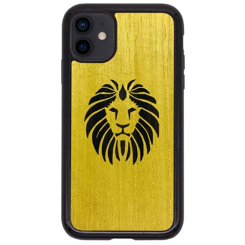 Чехол Timber&Cases для Apple iPhone 11 TPU WILD collection - Царь зверей/Лев (Желтый Кото - Эвкалипт)
