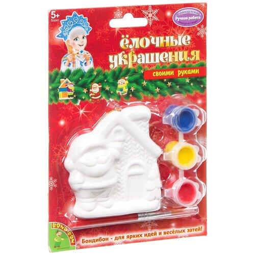 Купить BONDIBON Набор для росписи Елочные украшения Домик Деда Мороза (ВВ1660), Роспись предметов