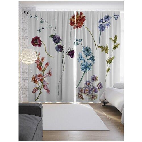 Портьеры JoyArty Цветочный подбор на ленте 265 см (p-9119)