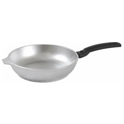 Сковорода Kukmara с263, 26 см, съемная ручка, серебристый сковорода d 24 см kukmara кофейный мрамор смки240а