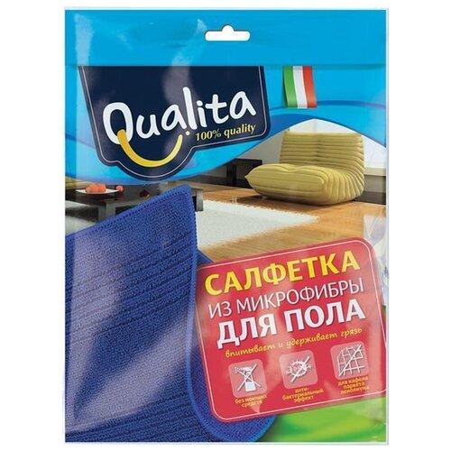 Салфетка из микрофибры Qualita для пола, синий салфетка из микрофибры qualita антипыль 1 мл