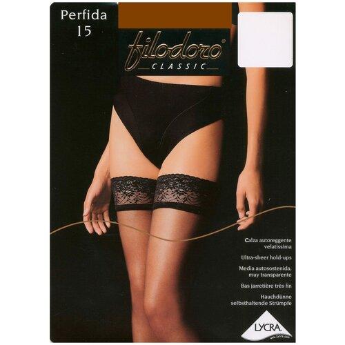 Чулки Filodoro Classic Perfida, 15 den, размер 4-L, nero (черный)