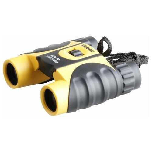 бинокль детский veber эврика цвет желтый черный Бинокль Veber 8x25 WP черный-желтый черный/желтый