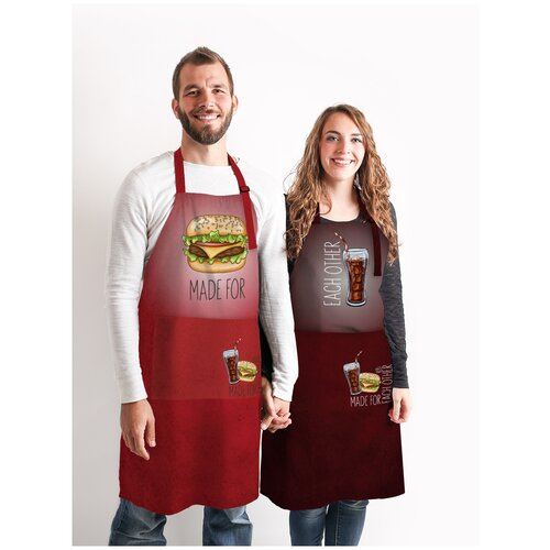 Комплект фартуки парные Бургер и Кола sfer.tex 1766431