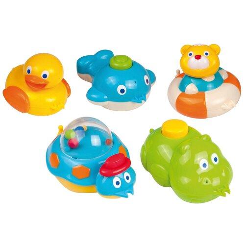 Купить Набор для ванной Canpol Babies 5 фигурок (2/594) голубой/зеленый/желтый, Игрушки для ванной