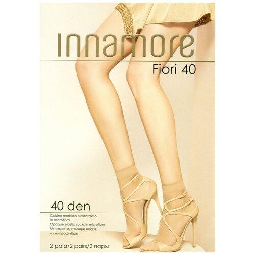 Капроновые носки Innamore Fiori 40, 2 пары, размер UNI, miele