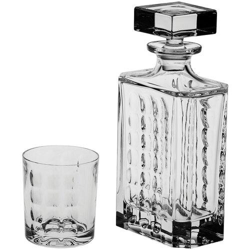 Набор для виски Crystal Bohemia Scale штоф 700 мл + 6 стаканов 320 мл хрусталь