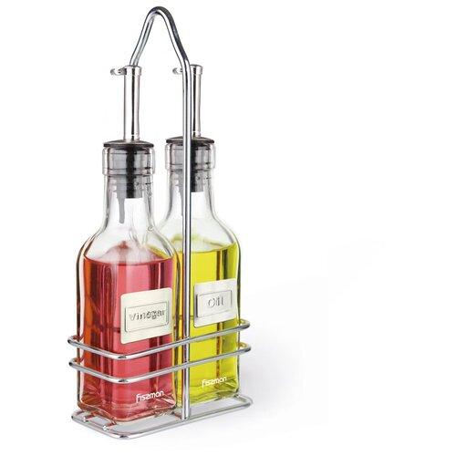 Набор бутылочек Fissman для масла и уксуса 2х150 мл (стекло) (6519) fissman бутылочка для масла или уксуса 150 мл прозрачный серебристый белый