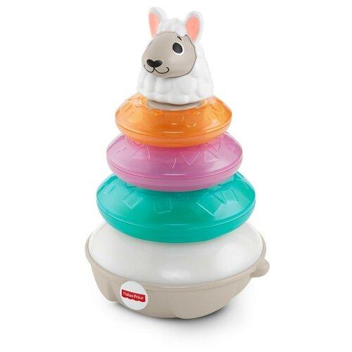 Развивающая игрушка Fisher-Price Linkimals Светящаяся Лама (GRW43), белый/розовый/голубой недорого