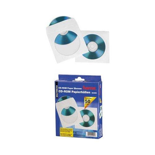 Конверты Hama H-51173 для Cd/dvd бумажные с прозрачным окошком 50 шт. белый