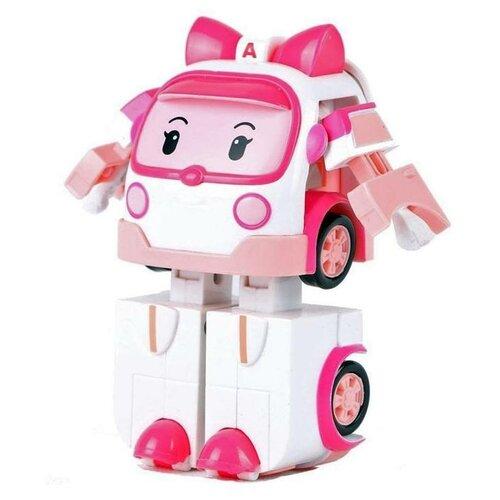 Купить Трансформер Silverlit Robocar Poli Эмбер 10 см белый/розовый, Роботы и трансформеры