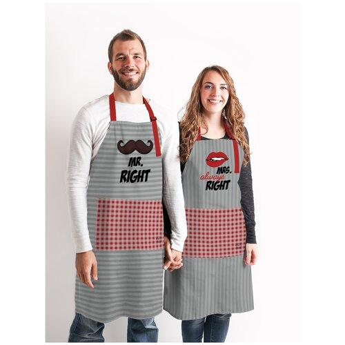 Комплект фартуки парные Mr Right&Mrs Always Right sfer.tex 1766430