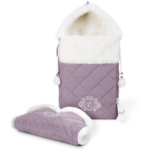 Комплект Esspero Elvis (конверт + муфта) 65 см l-lilac конверты для новорожденных esspero зимний конверт и муфта elvis