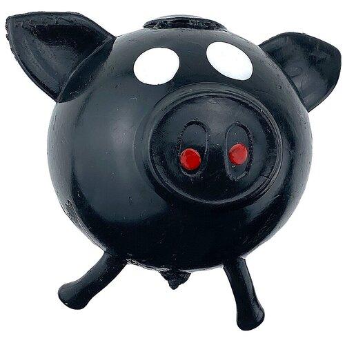 Игрушка-мялка Город Игр Хрюша черный