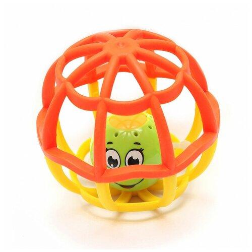 Купить Мячик музыкальный Азбукварик Хохотуша Оранжевый-Желтый, Погремушки и прорезыватели