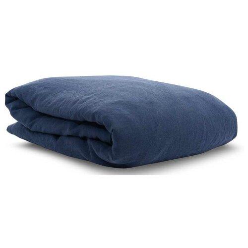 Фото - Пододеяльник TKANO Essential, 150 х 200 см, темно-синий платок женский troll цвет темно синий молочный tsa0345gr размер 150 см х 150 см