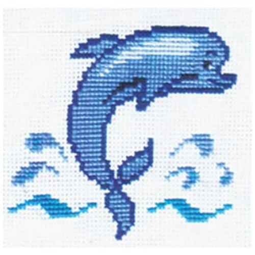 Сделай своими руками Набор для вышивания Дельфин 15 х 15 см (Д-04)