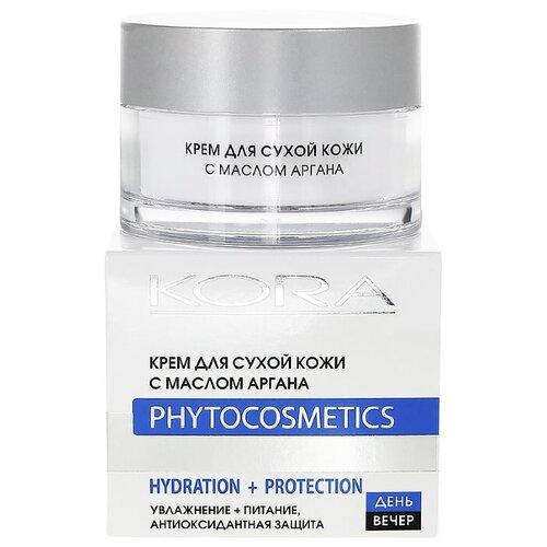 Kora Phytocosmetics Крем для сухой кожи с маслом аргана для лица, 50 мл kora phytocosmetics крем ночной биорегулятор для лица для жирной и комбинированной кожи 50 мл