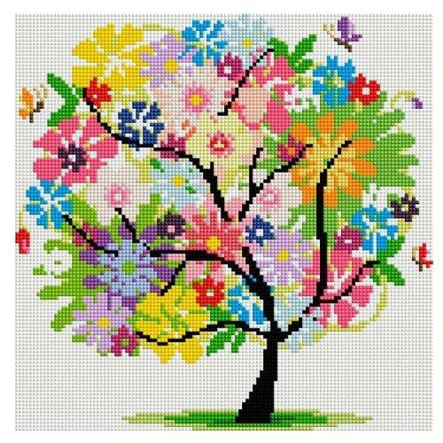Мозаичная картина Древо Весны