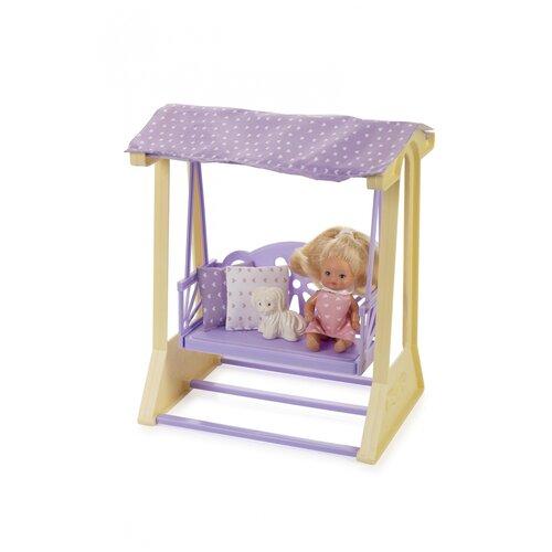 Купить Качели для кукол Огонек Маленькая принцесса , (лимонные) (С-1515), ОГОНЁК, Мебель для кукол
